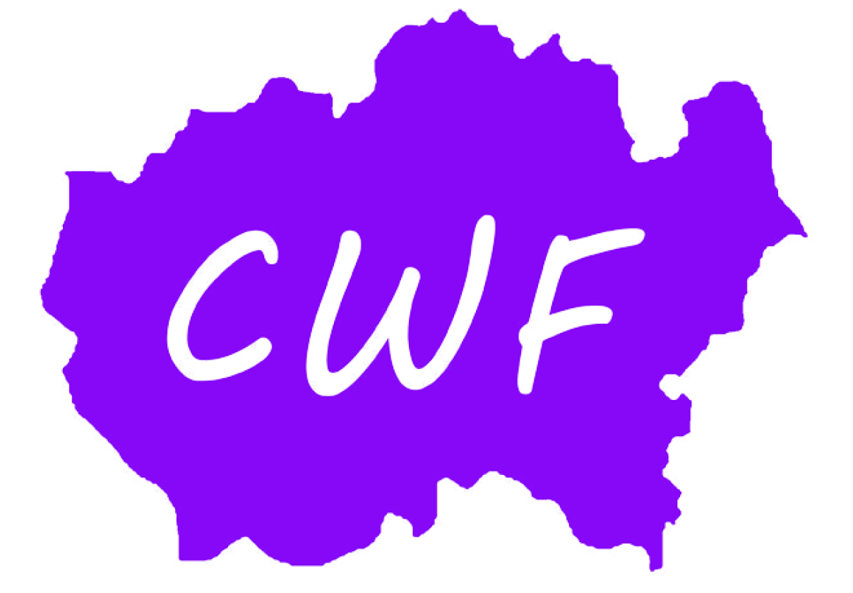 CWF logo purple